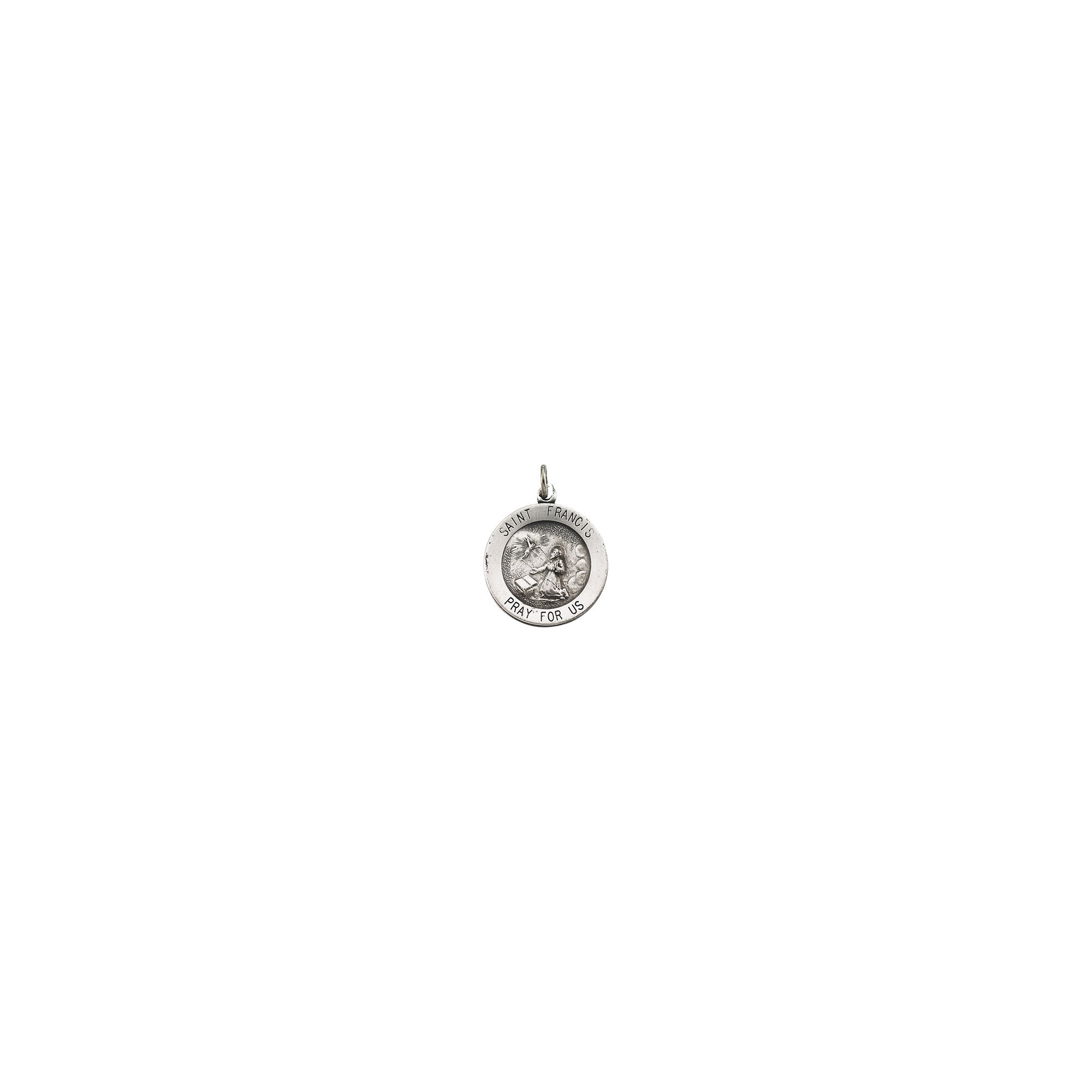 de1c413c44a Sterling Silver 18.25mm Round St. Francis of Assisi Medal | The ...
