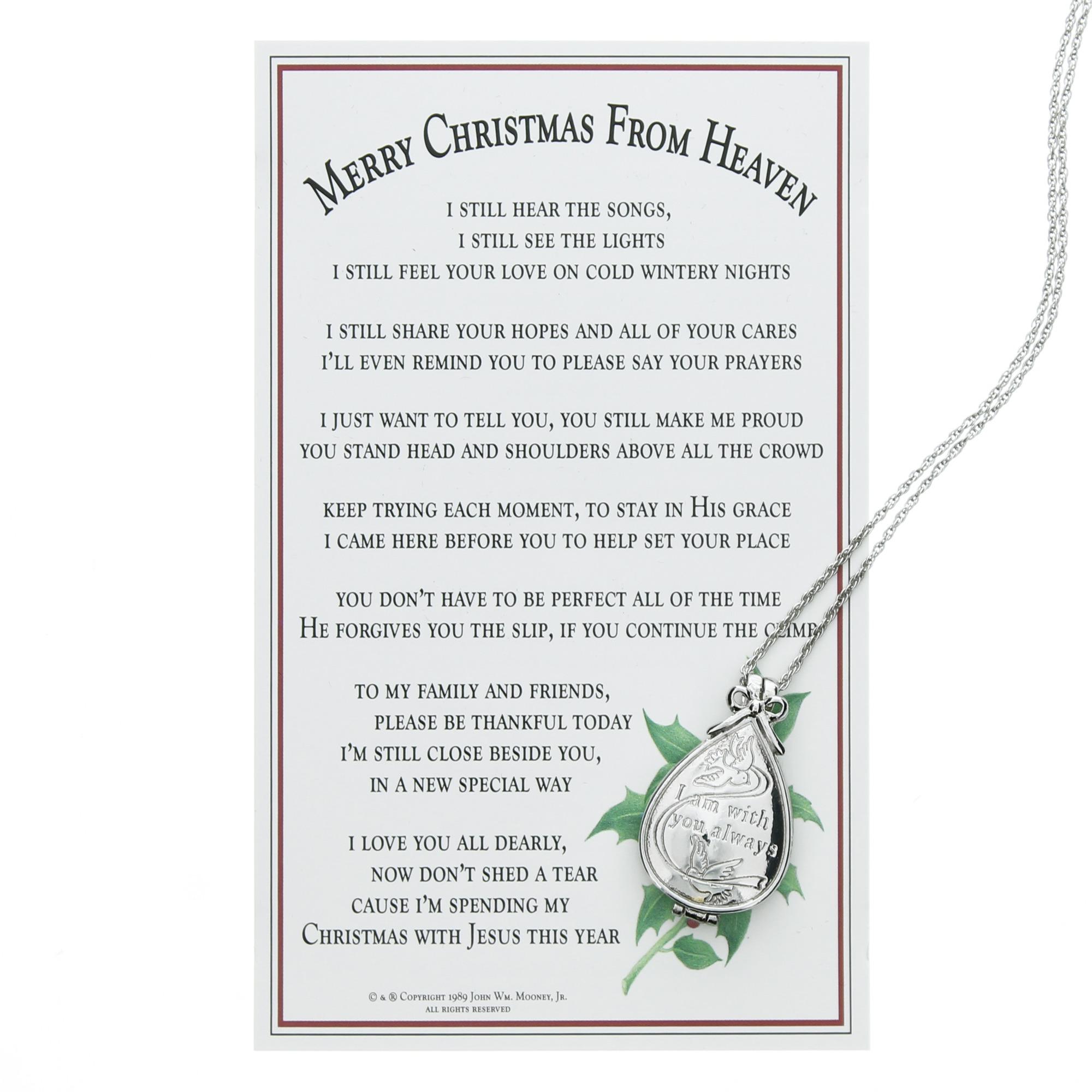 merry christmas from heaven keepsake locket wmemory box