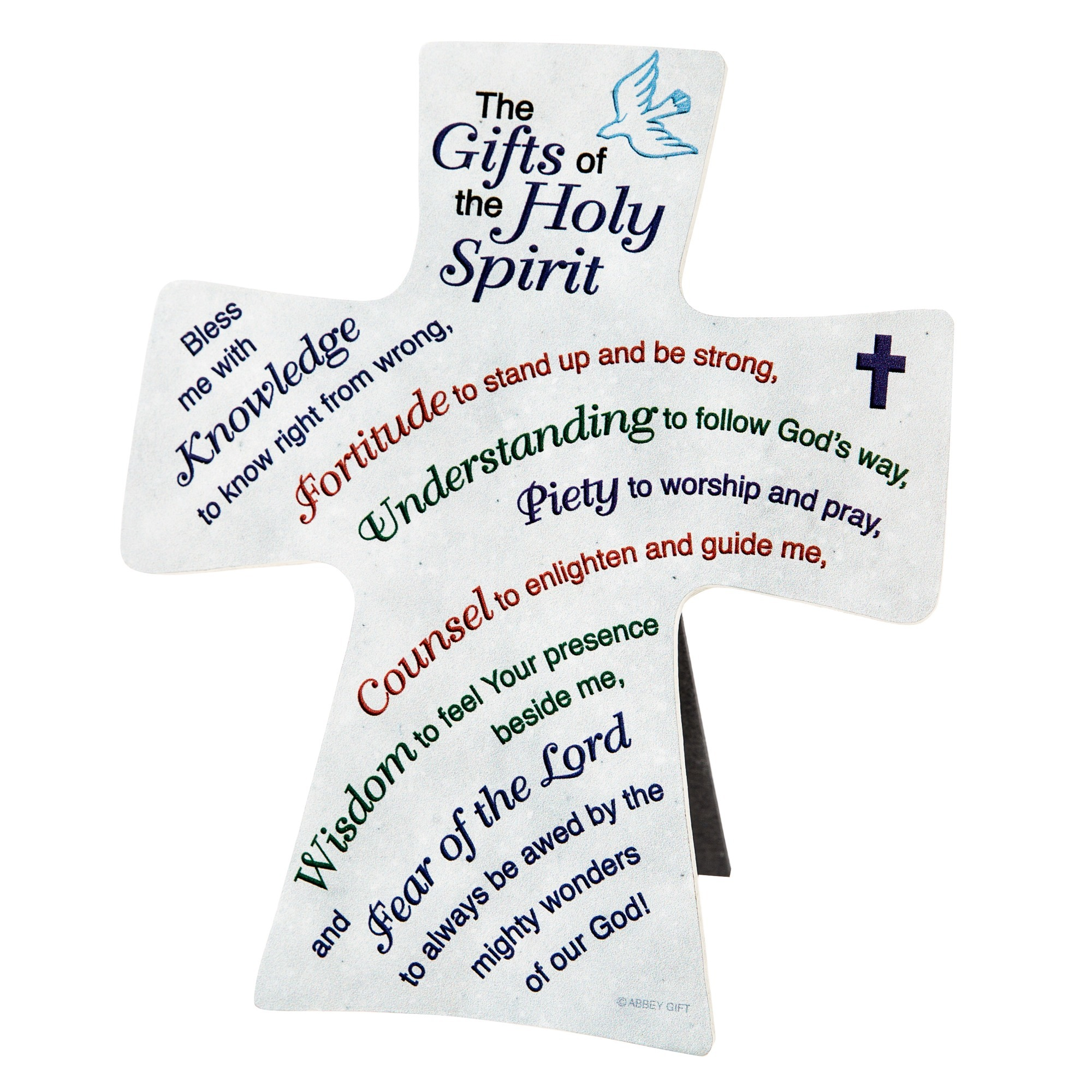 worksheet Fruits And Gifts Of The Holy Spirit Worksheet gifts of the holy spirit cross plaque 6 inch catholic company inch