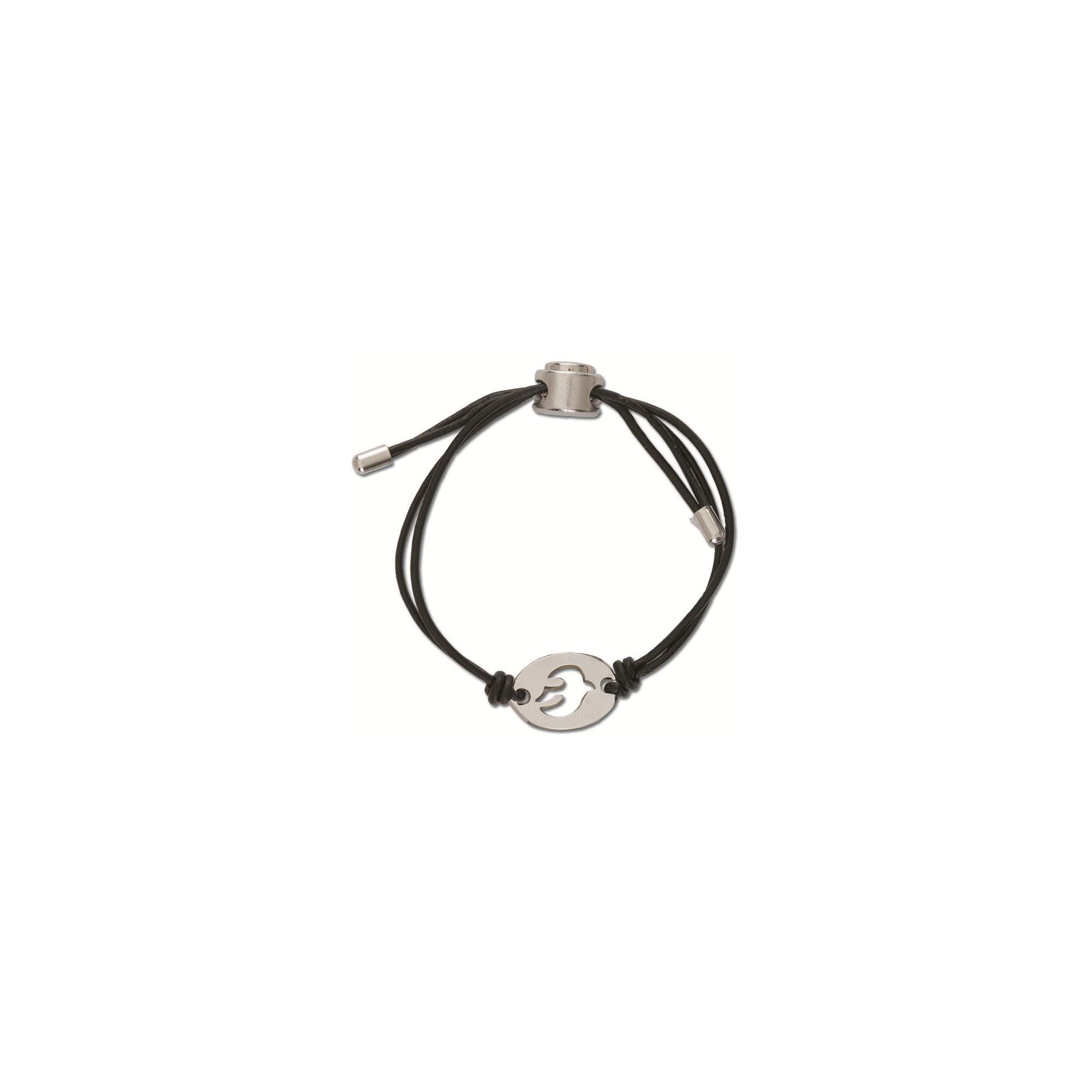 Leather Confirmation Dove Bracelet
