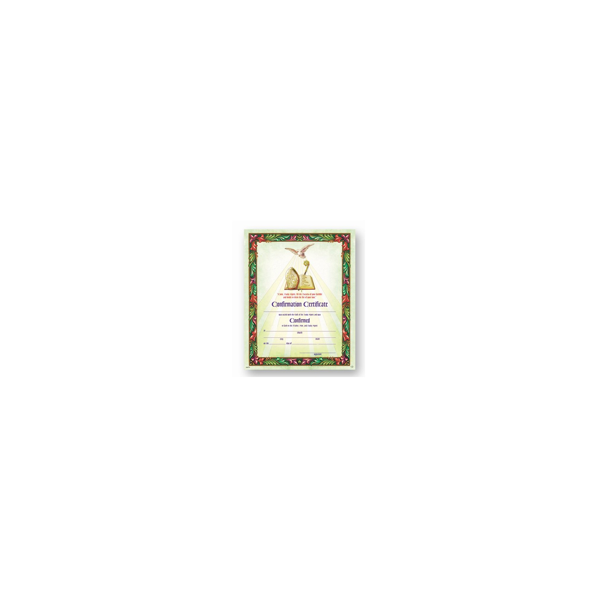 Certificate Of Confirmation 50 Pack The Catholic Company