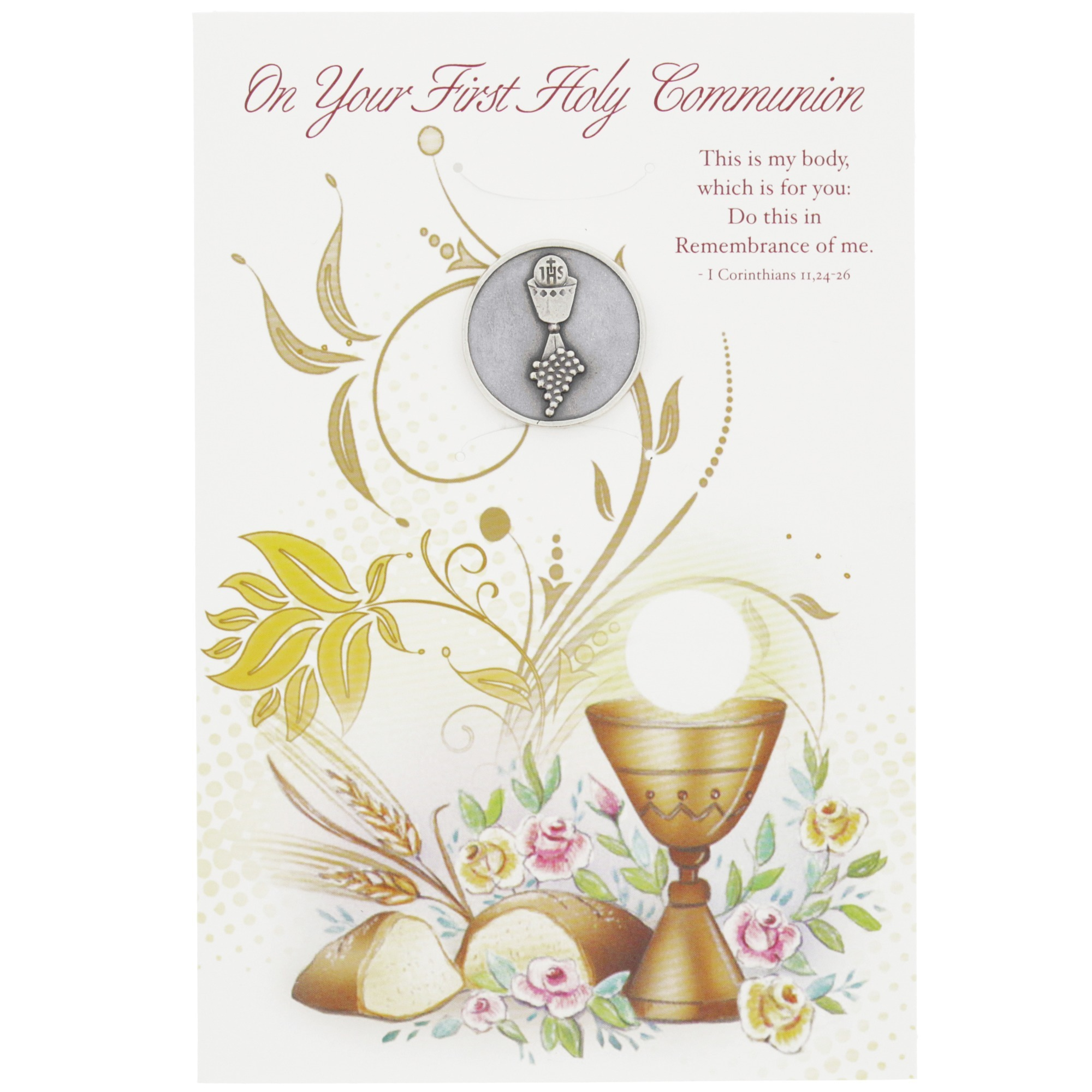 First holy communion greeting card with token the catholic company unavailable add to wishlist kristyandbryce Choice Image