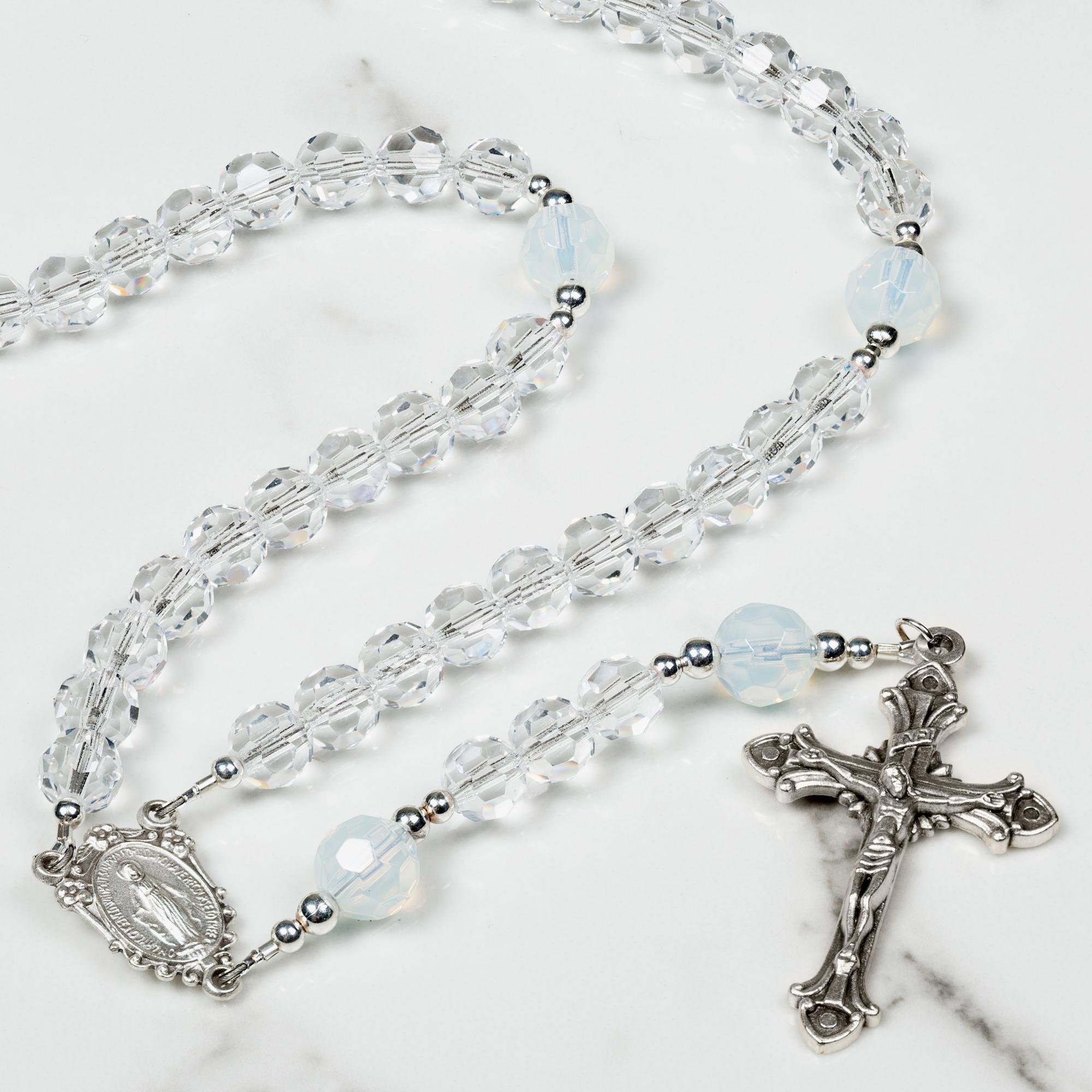 October Birthstone Opal Rosary
