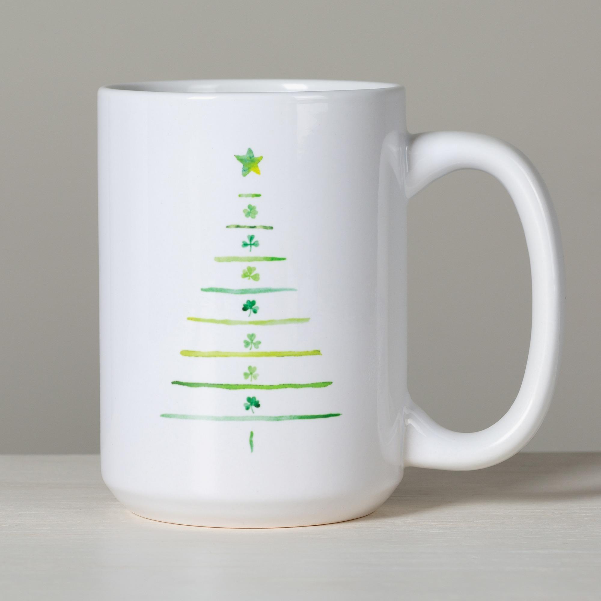 Irish Blessing Shamrock Tree Mug | The Catholic Company