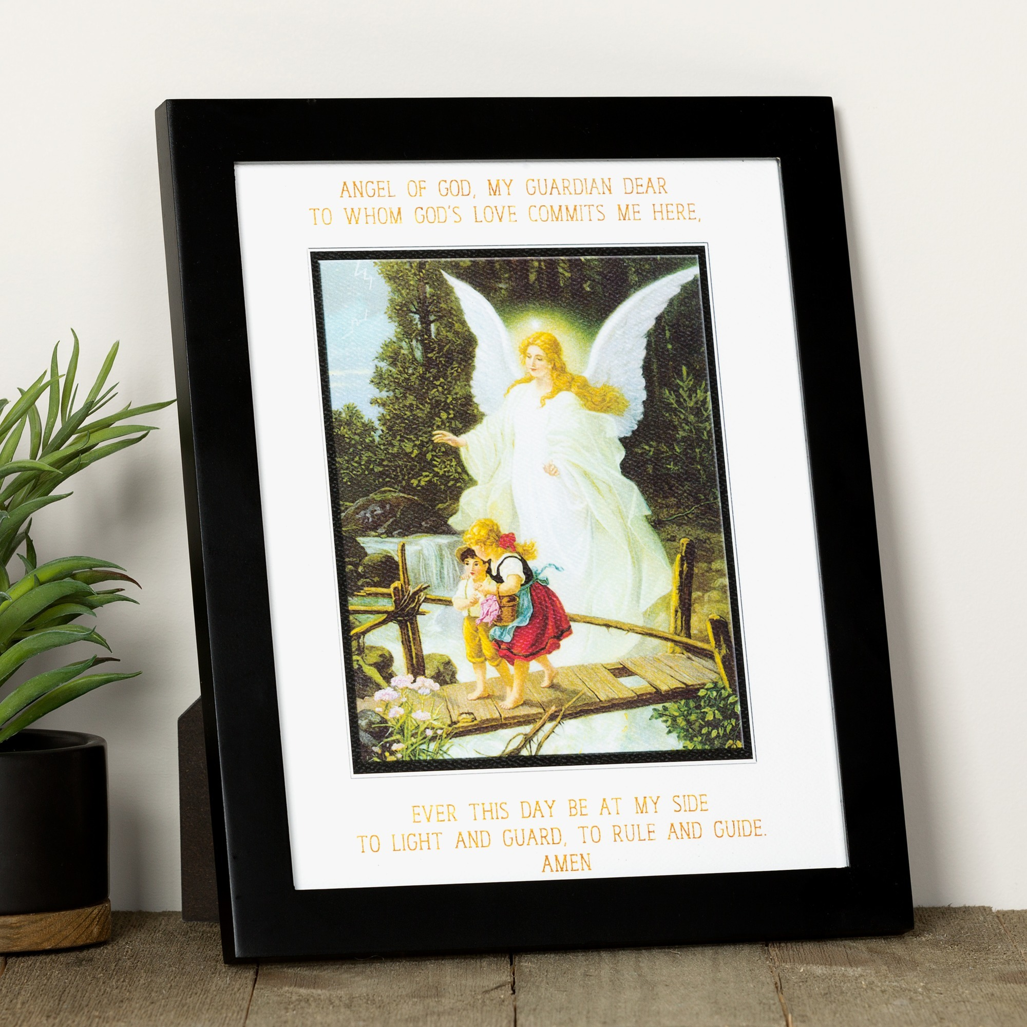 graphic about Guardian Angel Prayer Printable identified as Mother or father Angel Prayer and Graphic Framed Print