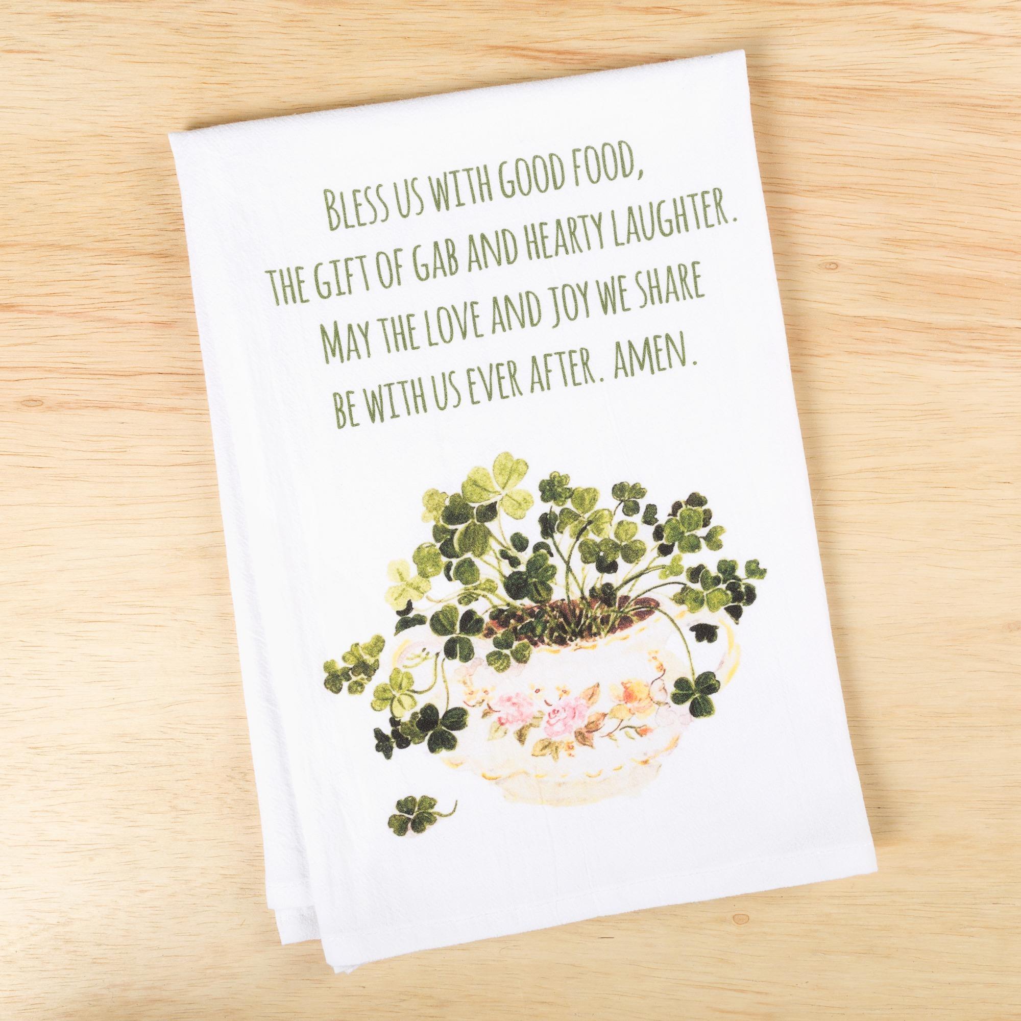 Irish Kitchen Blessing Flour Sack DishTowel | The Catholic Company