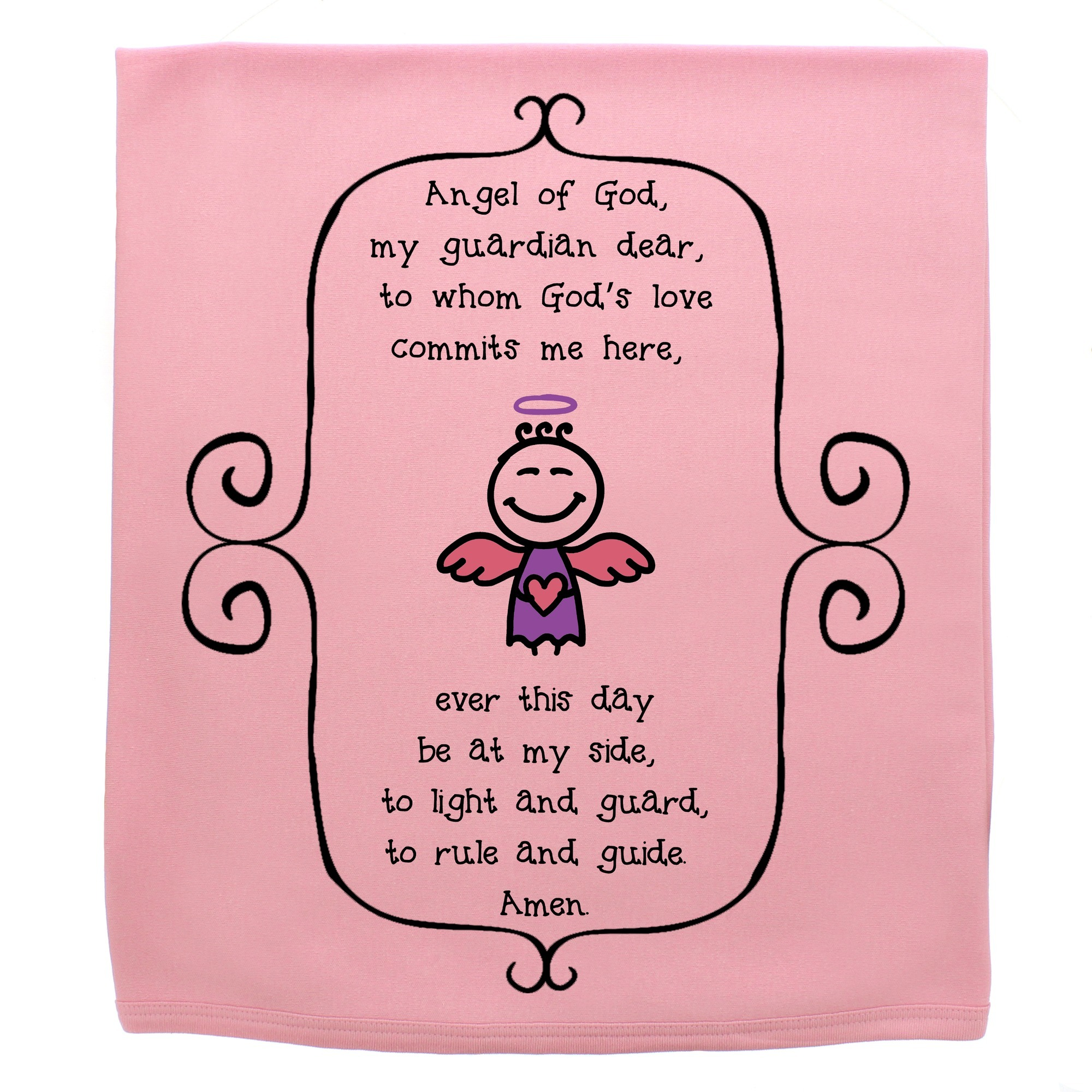 Guardian Angel Prayer Baby Blanket | The Catholic Company