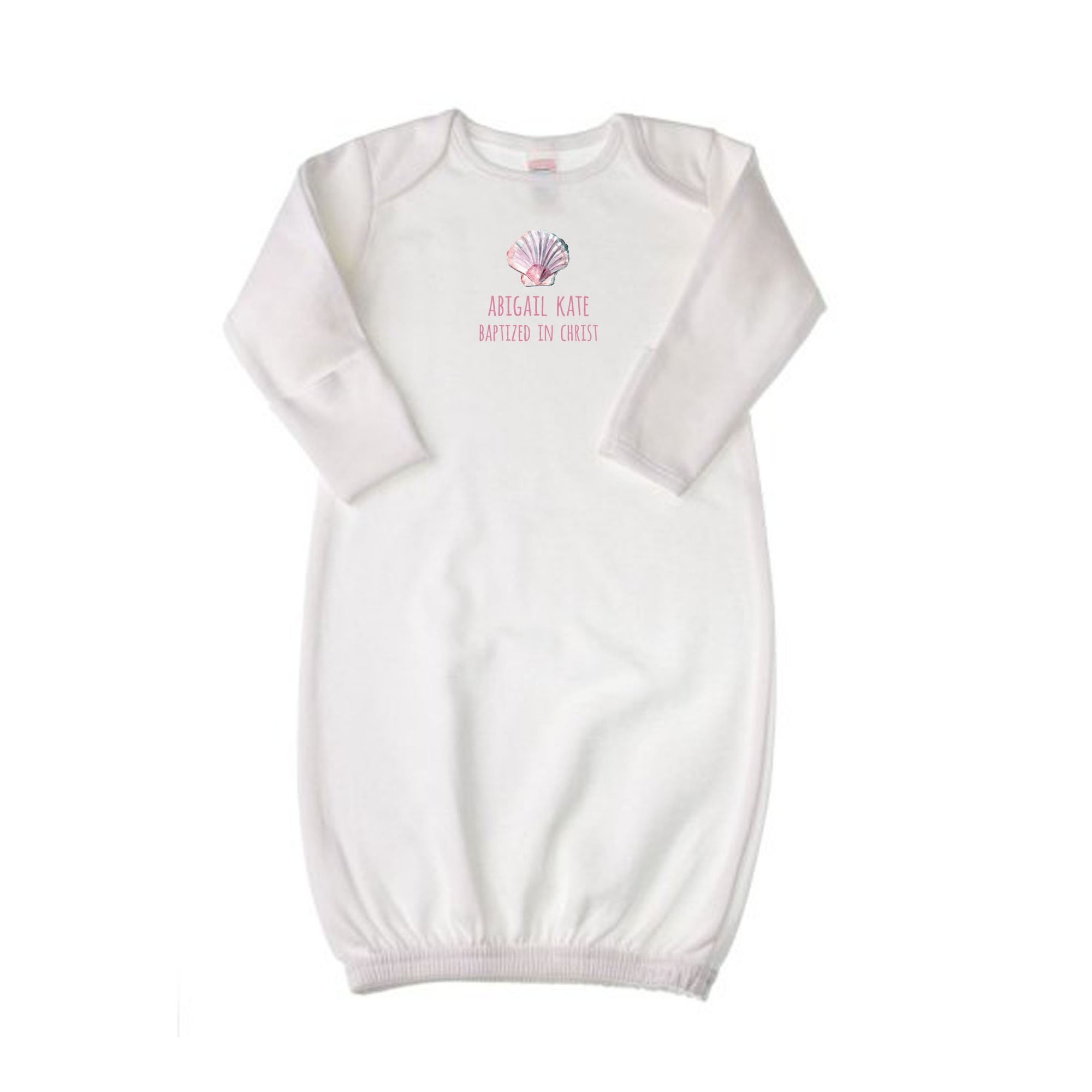 Personalized Pink Baptism Gown | The Catholic Company