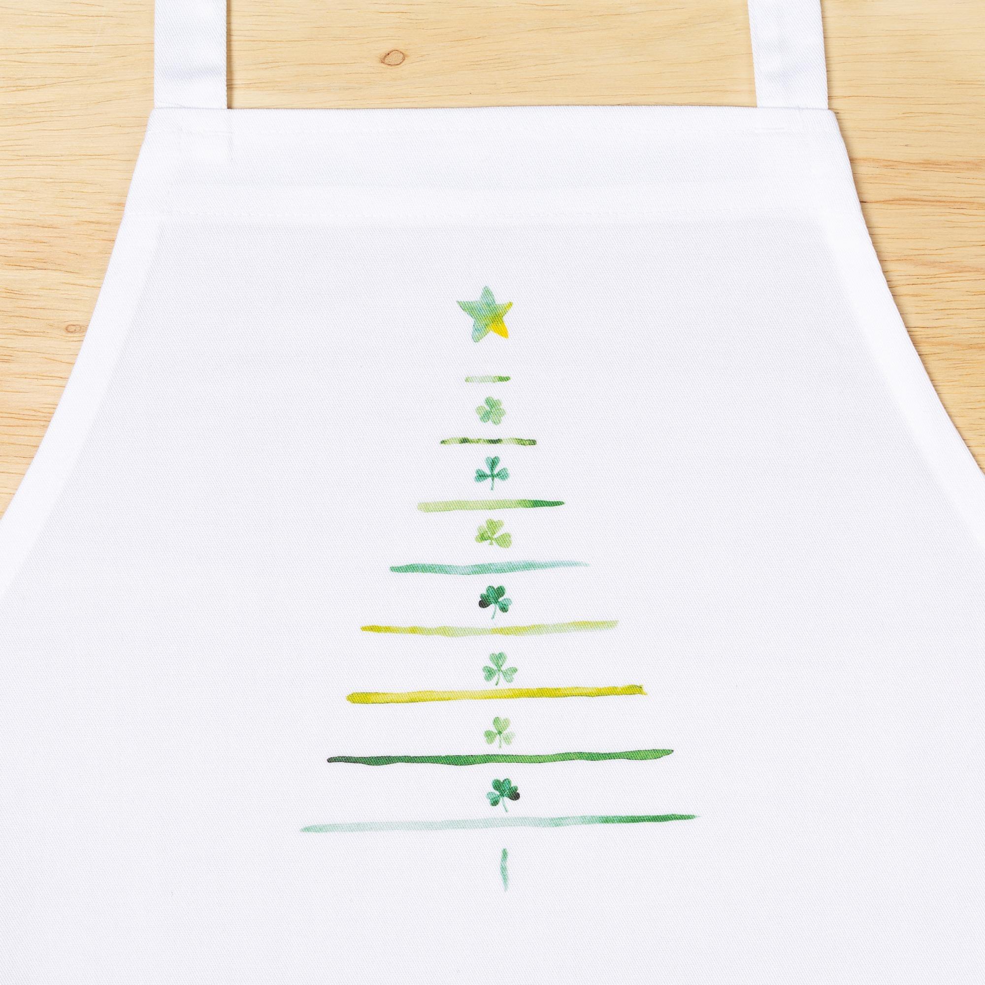 Irish Shamrock Christmas Tree Apron | The Catholic Company