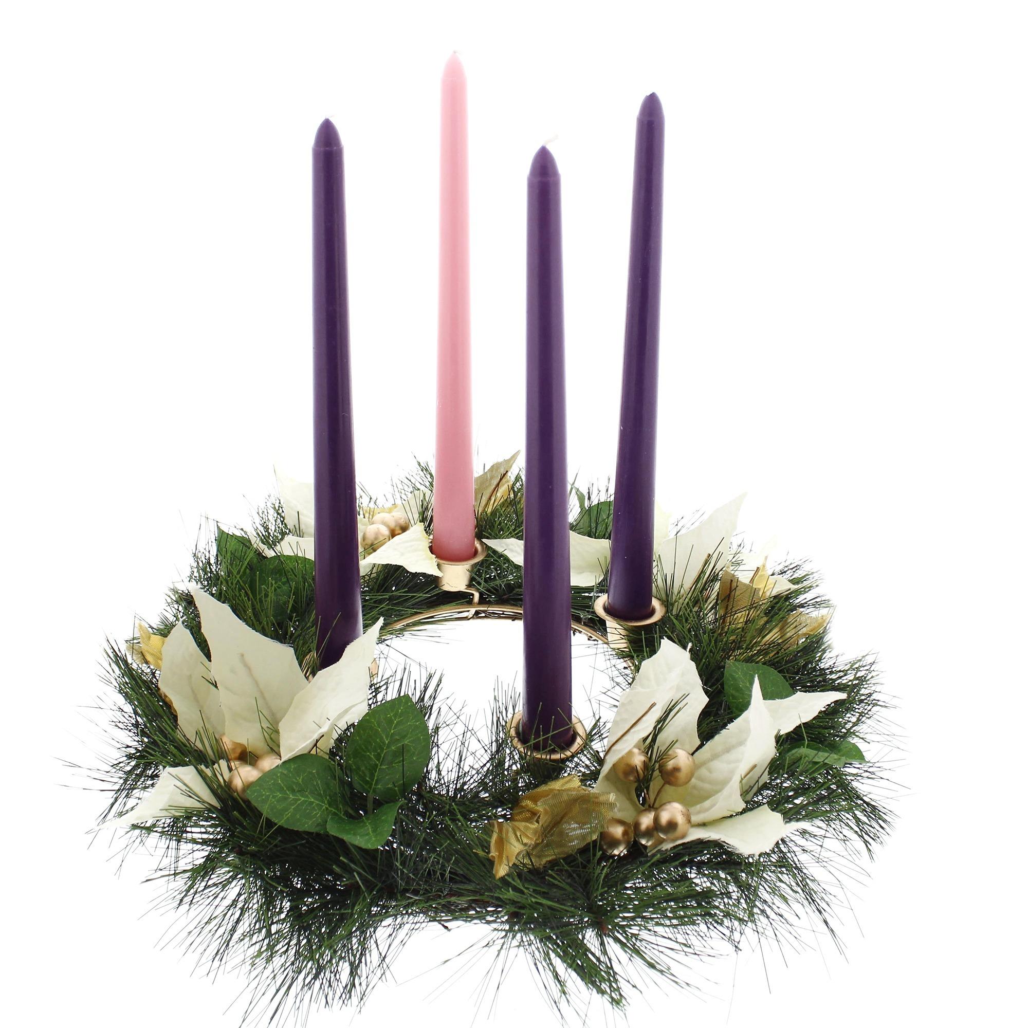 white poinsettia advent wreath the catholic company