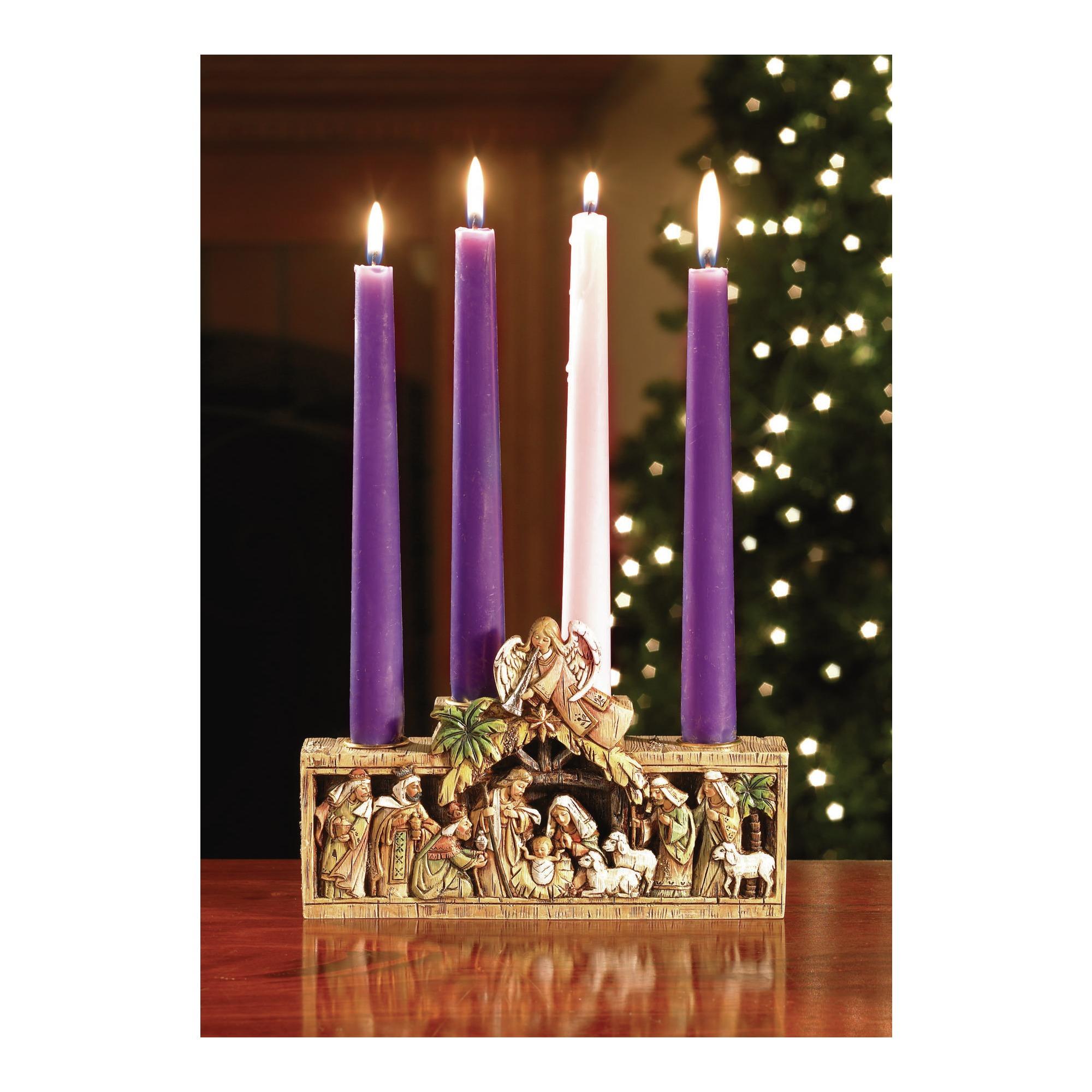 Nativity Advent Candleholder The Catholic Company