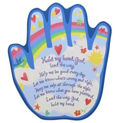 Hold My Hand Shaped Plaque The Catholic Company