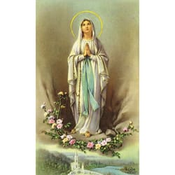 Our Lady Of Lourdes Personalized Prayer Card Priced Per