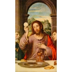 Christ With Eucharist Personalized Prayer Card Priced Per