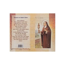 St Clare Mini Lives Of The Saints Folded Prayer Card