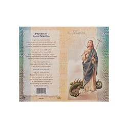 St Martha Mini Lives Of The Saints Folded Prayer Card