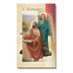 St Matthew Mini Lives Of The Saints Folded Prayer Card