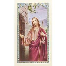 A House Blessing Christ Knocking Prayer Card The