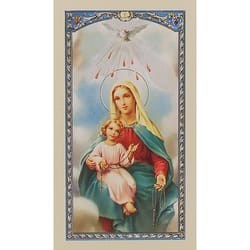 Mother Mary With Child Jesus My Rosary Prayer Card