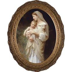 L Innocence By Bouguereau Oval Frame The Catholic Company