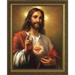 Sacred Heart W Gold Frame 11x14 The Catholic Company