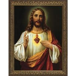 Italian Sacred Heart W Gold Frame The Catholic Company