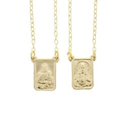 Gold Plated Scapular Necklace The Catholic Company