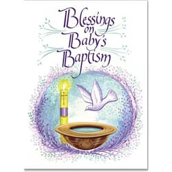 Blessings On Baby S Baptism Card The Catholic Company