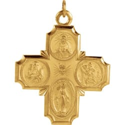4-Way Cross Medal -14K Gold