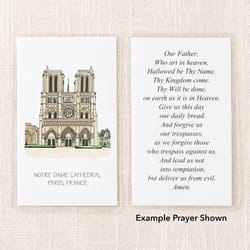 Notre Dame Cathedral Personalized Prayer Card