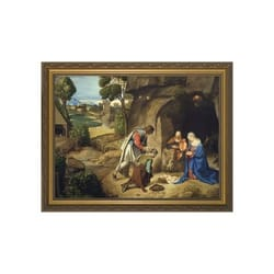 Adoration of Shepherds w/ Gold Frame