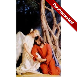 Agony in the Garden Personalized Prayer Card (Priced Per Card)