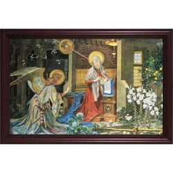 Annunciation of St. Gabriel w/ Cherry Frame