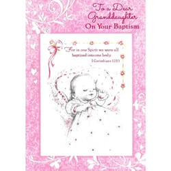 Catholic baptism cards the catholic company baptism greeting card granddaughter m4hsunfo