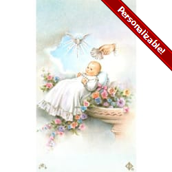Baptism Personalized Prayer Card