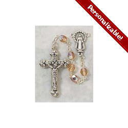 Birthstone Rosary - October