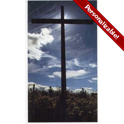 Black Cross Personalized Prayer Card (Priced Per Card)