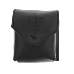 Black Leather Pyx Burse