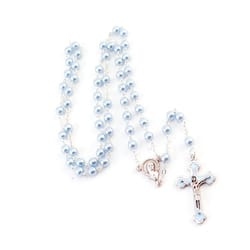 Blue Glass Baby Rosary