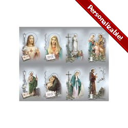 Bonella Personalized Prayer Card - Assorted Subjects (Priced Per Card)