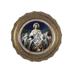 Bread of Angels on Canvas w/ Round Gold Frame
