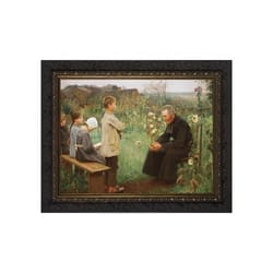 Catechism Lesson w/ Dark Ornate Frame