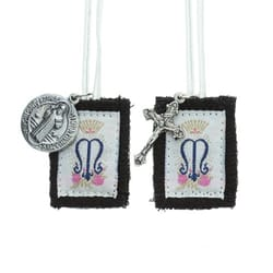 Children's Scapular with White Strings