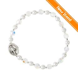Child S Miraculous Medal Crystal Bracelet