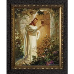 Christ at Heart's Door w/ Dark Ornate Frame