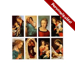 Classic Madonnas Personalized Prayer Card (Priced Per Card)