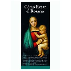 Como Rezar el Rosario (How to Pray the Rosary - Spanish) Pack of 50