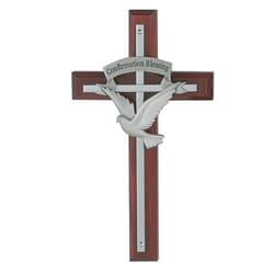 Confirmation Blessing Cherry Cross - 7 inch