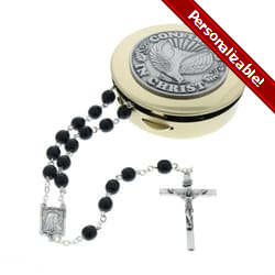 Confirmation Rosary Box Set - Black Rosary