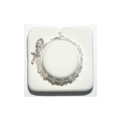 Crystal Baby Rosary Bracelet - 4MM